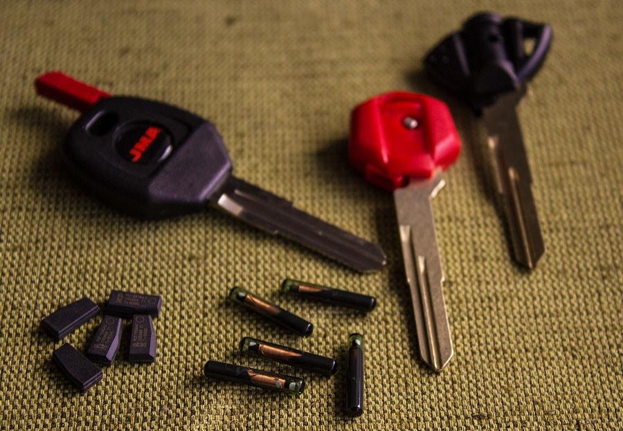 Автомобильные ключи с чипами
